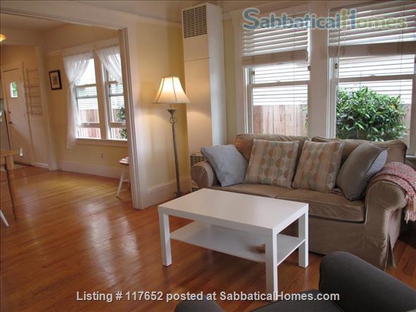 2 bd/2 bath sunny, updated duplex w/lush yard & large deck, walk everywhere Home Rental in Berkeley, California, United States 4