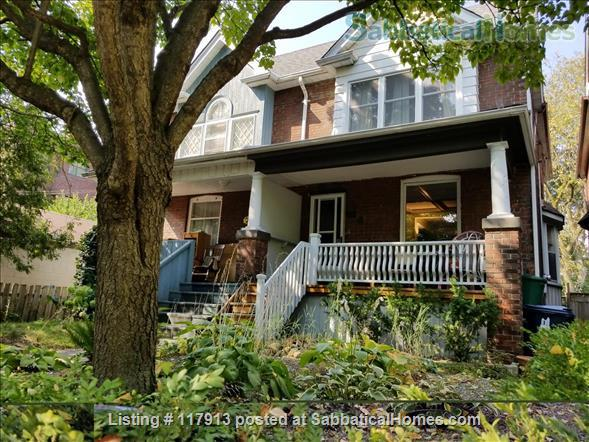 Oasis in the city - 2-3  bedroom house in Toronto's Riverdale near parks, subway, bus, quick trip to U of T, Ryerson Univ, hospitals  Home Rental in Toronto, Ontario, Canada 1