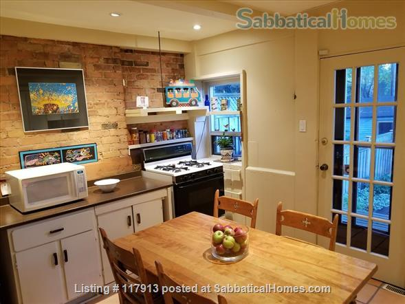 Oasis in the city - 2-3  bedroom house in Toronto's Riverdale near parks, subway, bus, quick trip to U of T, Ryerson Univ, hospitals  Home Rental in Toronto, Ontario, Canada 3