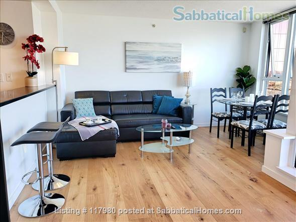 2 Bed - 1 Bath - Furnished  Downtown Condo - Water Views & Parking Home Rental in Vancouver, British Columbia, Canada 3
