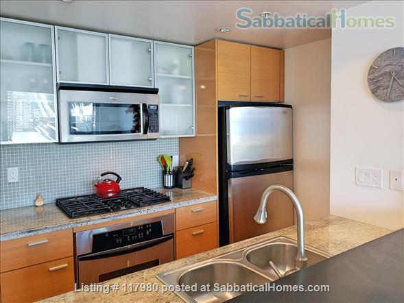 2 Bed - 1 Bath - Furnished  Downtown Condo - Water Views & Parking Home Rental in Vancouver, British Columbia, Canada 2