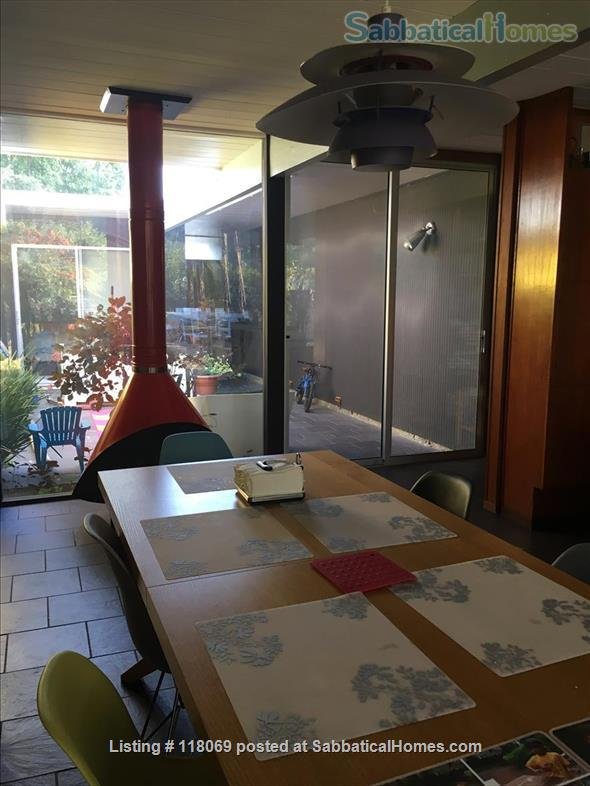 EICHLER, FURNISHED in Midtown Palo Alto, NEAR STANFORD Home Rental in Palo Alto, California, United States 0