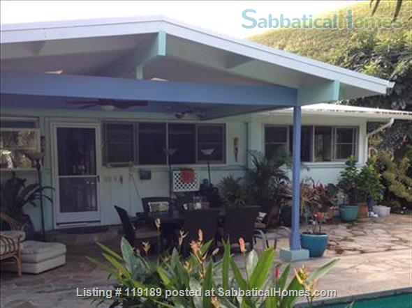 Special, quiet, ocean view lovely home  close to beach heated pool/spa surrounded by nature Home Rental in Kailua, Hawaii, United States 0