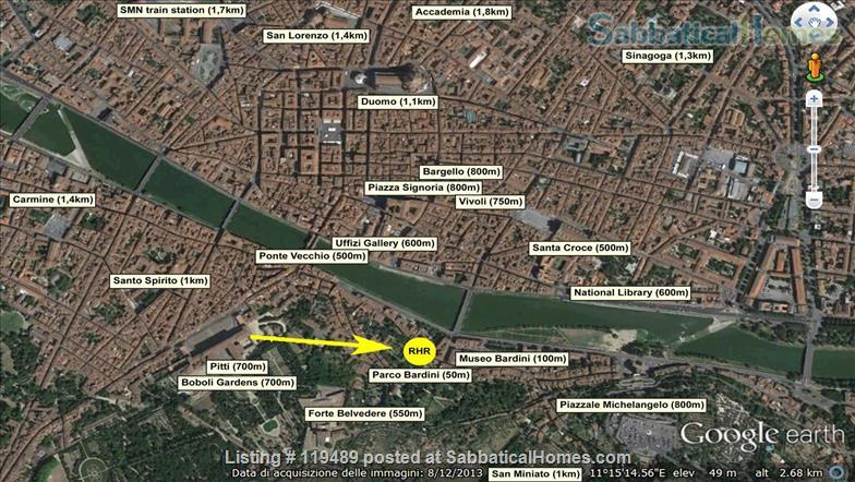 Fast WiFi, remote work (apt.2D)  Charming, Quiet, Family-friendly 2br Apt in Central Ancient Bldg w/Elevator. Home Rental in Firenze, Toscana, Italy 8