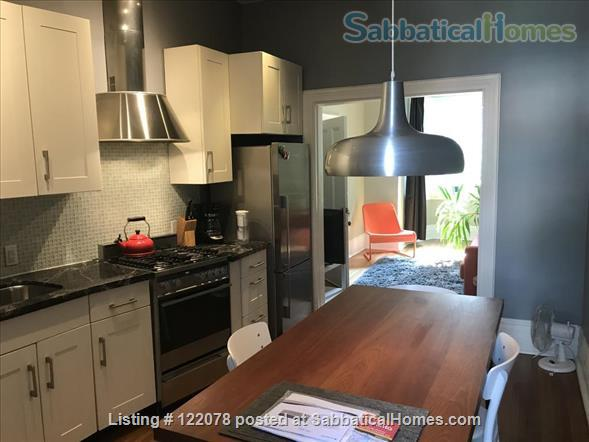 Victorian 1BR Apartment with Private Garden and Parking in Trinity-Bellwoods Home Rental in Toronto, Ontario, Canada 1