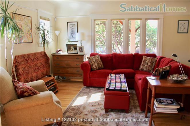 FURNISHED MORNING ROOM IN NORTH OAKLAND, CA CHARMER, 3 BLOCKS TO ASHBY BART Home Rental in Oakland, California, United States 1