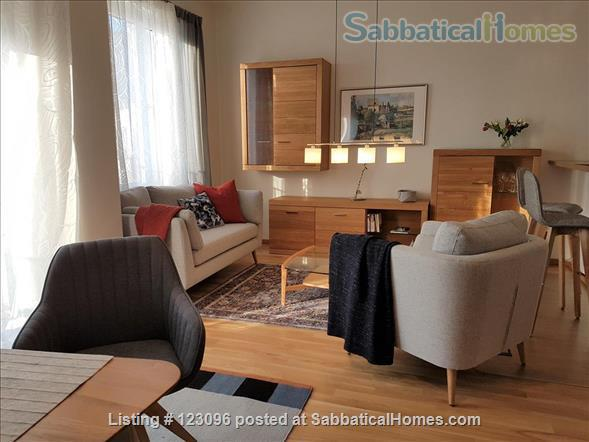 All inclusive, fully furnished, top-floor 2-room apartment with balcony - bright and quiet  in the very heart of Berlin Home Rental in Berlin, Berlin, Germany 1