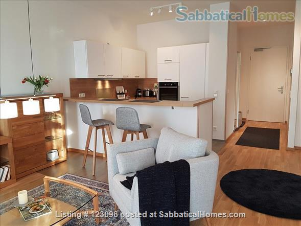 All inclusive, fully furnished, top-floor 2-room apartment with balcony - bright and quiet  in the very heart of Berlin Home Rental in Berlin, Berlin, Germany 0