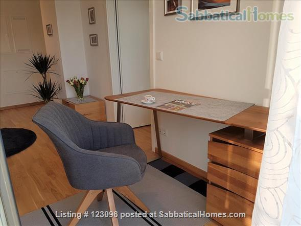 All inclusive, fully furnished, top-floor 2-room apartment with balcony - bright and quiet  in the very heart of Berlin Home Rental in Berlin, Berlin, Germany 5
