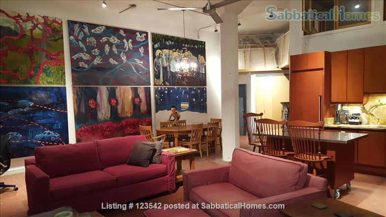 Spacious bright penthouse level artist loft for rent Union Square near MIT Home Rental in Somerville, Massachusetts, United States 0