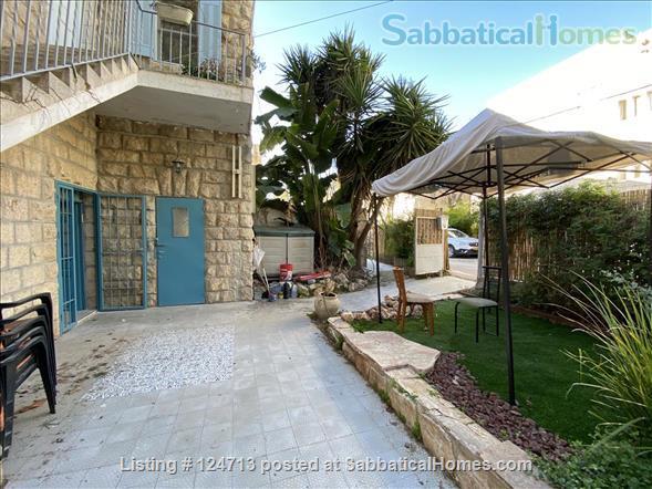 Beautiful 1 bedroom off of Emek Rephaim with private garden Home Rental in Jerusalem, Jerusalem District, Israel 1