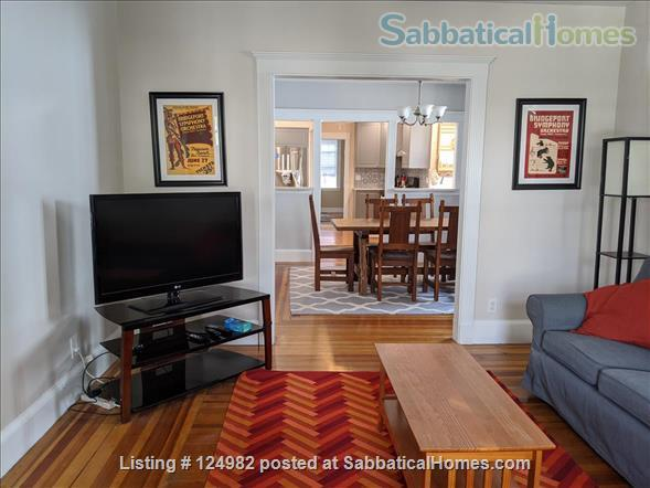Sunny apt with bedroom and office near Tufts, Harvard, & MIT - Util included Home Rental in Arlington, Massachusetts, United States 1