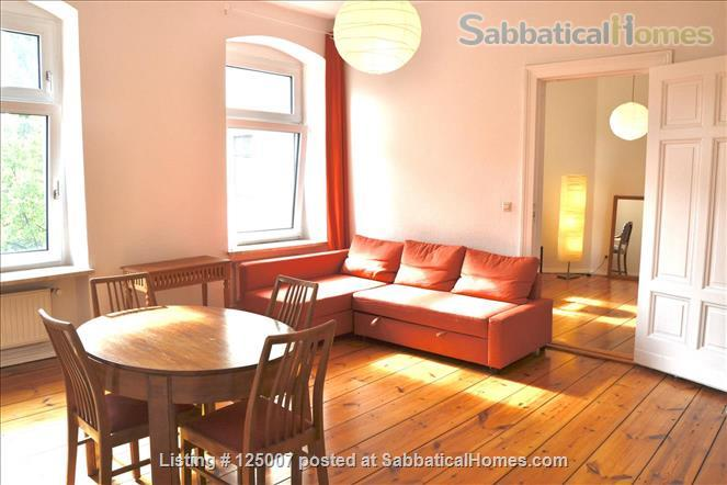Sunny, calm, great view: Beautiful 2-room apt. in  Berlin-Kreuzberg Home Rental in Berlin, Berlin, Germany 1