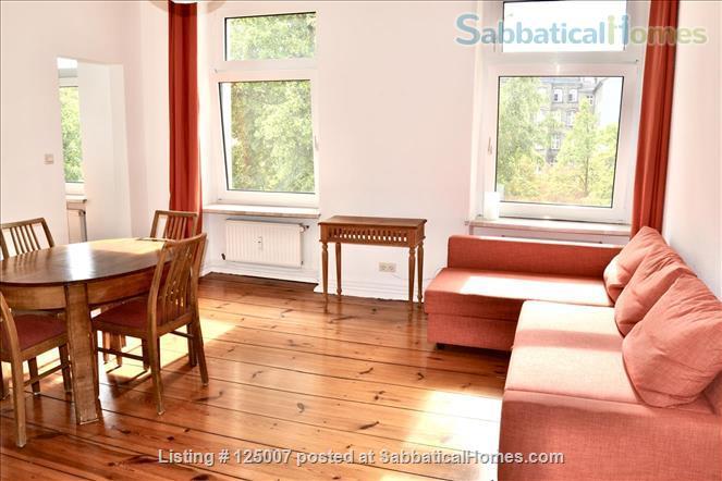 Sunny, calm, great view: Beautiful 2-room apt. in  Berlin-Kreuzberg Home Rental in Berlin, Berlin, Germany 0