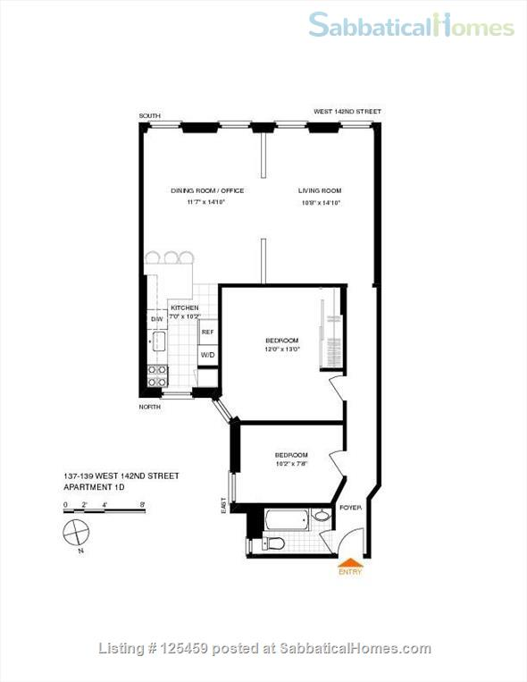 Architect's Harlem Sunny 2 BR Newly Renovated City College  Washer/Dryer Home Rental in New York, New York, United States 7