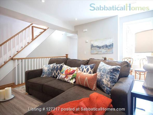 "Three bedroom duplex, "" Gem in the city"" on a quiet leafy street, walkable access to everything! Home Rental in Toronto, Ontario, Canada 1"