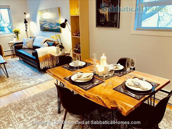 April 1, 2022 - Luxurious, furnished 2-bdrm, 1 bath in Leslieville Triplex Home Rental in Toronto, Ontario, Canada 2