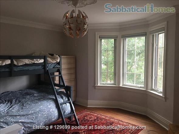 Lovely downtown house: 3 bedroom + 2 studies, back yard, front porch, electric car parking Home Rental in Toronto, Ontario, Canada 5
