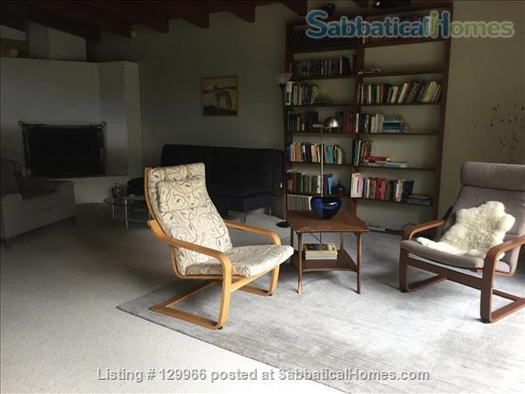 Peaceful Mid-Century Modern w/deer sightings! Secluded canyon, cul-de-sac 3000-2880 month (negotiable) based on  occupancy, 1 mile  to Art Center College of Design (north), 4.5 miles to JPL, 7.4 miles to Caltech, 8.4 miles to Huntington Library Home Rental in Glendale, California, United States 0