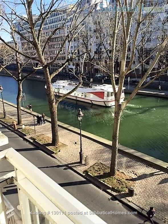 Spacious appartment with direct view onto Canal St. Martin Home Rental in Paris, Île-de-France, France 6