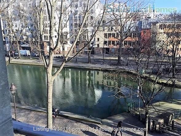 Spacious appartment with direct view onto Canal St. Martin Home Rental in Paris, Île-de-France, France 7