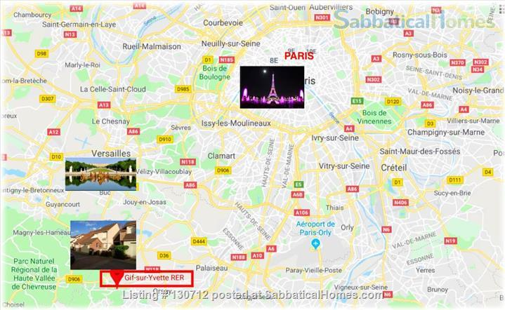 RENT  :  2000 €   (Month)       550 € - 650 €  weekly  Home Rental in Gif-sur-Yvette, Île-de-France, France 1