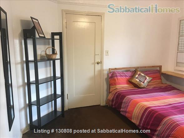 Quaint furnished bedroom and private bathroom in large 1930s duplex Home Rental in Los Angeles, California, United States 1