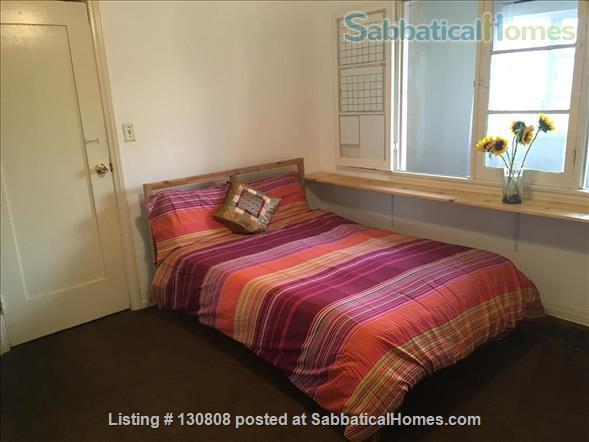 Quaint furnished bedroom and private bathroom in large 1930s duplex Home Rental in Los Angeles, California, United States 2