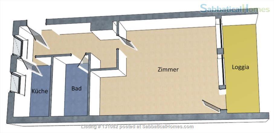 Berlin - Schoeneberg: Sunny studio on 5th floor with balcony and parking Home Rental in Berlin, Berlin, Germany 9