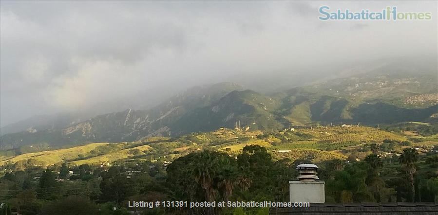 Serene 3-bedroom hilltop home with expansive mountain views. Home Rental in Santa Barbara, California, United States 1