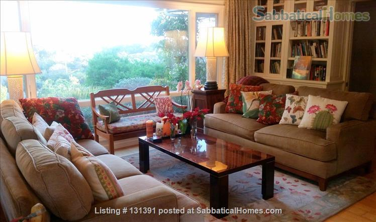 Serene 3-bedroom hilltop home with expansive mountain views. Home Rental in Santa Barbara, California, United States 2