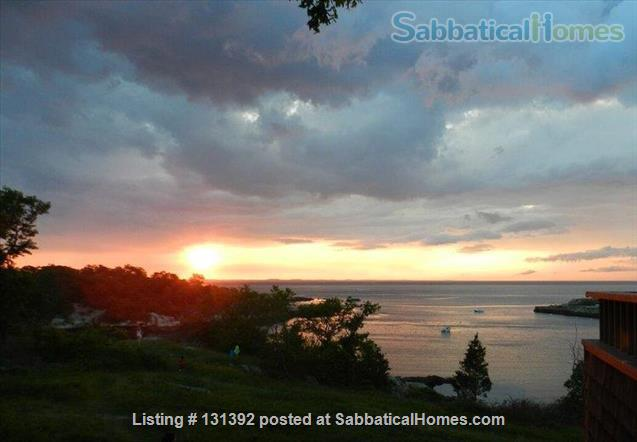 Truly stunning house on seaside estate; 1-hr drive to Cambridge / Boston; fully furnished. Gorgeous ocean views; private beaches & wild land to roam. Home Rental in Gloucester, Massachusetts, United States 3
