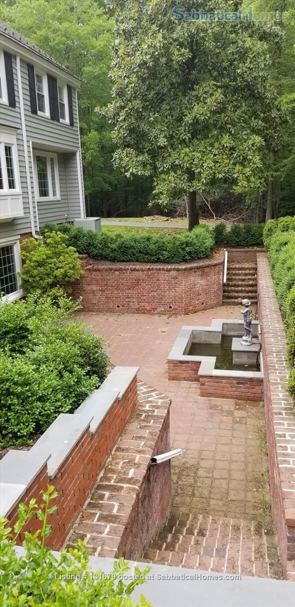 Lower ground fl. apt. w/terrace, fountain, fireplace in exclusive Fairfax location Home Rental in Fairfax, Virginia, United States 0