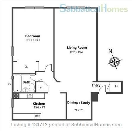 Sunny 1 Bedroom in Ditmas Park, Brooklyn Home Rental in Brooklyn, New York, United States 5