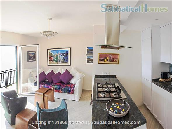 Luxurious apartment with breathtaking views of Italian Riviera 2km fr Menton Home Rental in Latte, Liguria, Italy 2