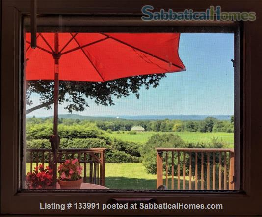 Amherst Center Massachusetts Rental Coveted Location (some flexibility on dates): Furnished 3 BR Home with  RARE Long-range Mountain Sunset View. $2,350/month.  Home Rental in Amherst, Massachusetts, United States 5
