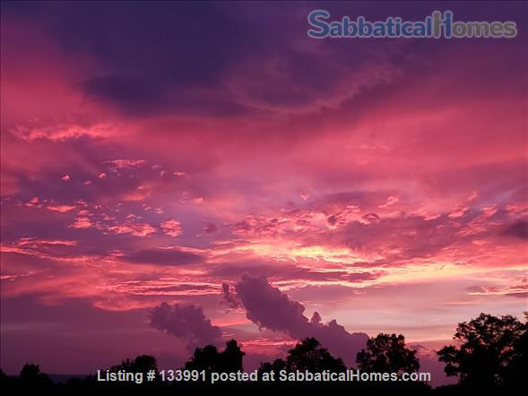 Amherst Center Massachusetts Rental Coveted Location (some flexibility on dates): Furnished 3 BR Home with  RARE Long-range Mountain Sunset View. $2,350/month.  Home Rental in Amherst, Massachusetts, United States 7