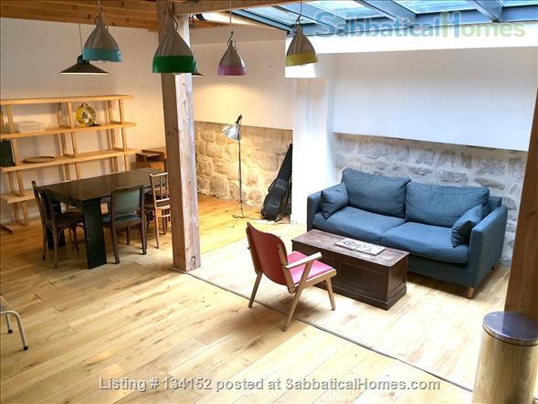 "3 bedrooms duplex with outdoor patios, ""like a house"" spirit Home Rental in Paris, Île-de-France, France 0"