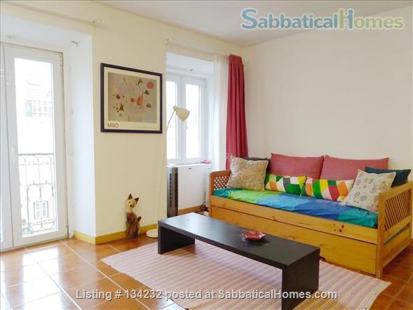 Sunny one-bedroom apartment in Lisbon Home Rental in Lisbon, Lisboa, Portugal 1