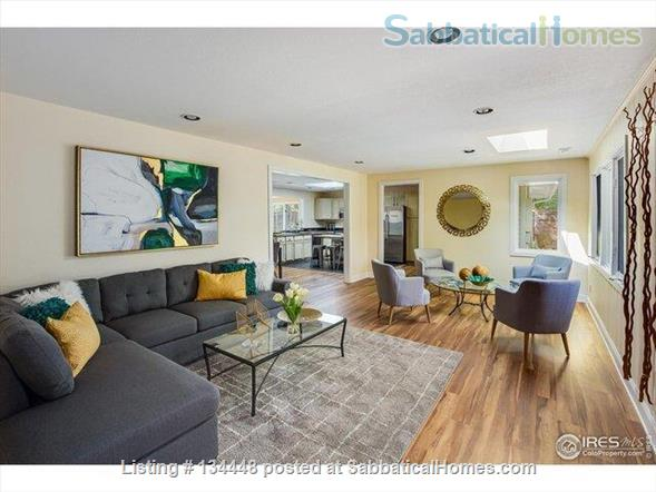 lovely 3-bedroom family home on huge lot at foothills for academic year Home Rental in Boulder, Colorado, United States 3