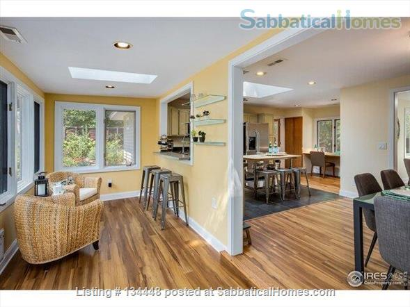 lovely 3-bedroom family home on huge lot at foothills for academic year Home Rental in Boulder, Colorado, United States 5