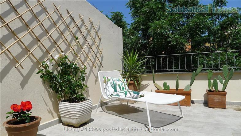 MONTE VERDE VECCHIO FURNISHED LOFT WITH PRIVAT TERRACE  SURROUNDED   by a lovely  garden Home Rental in Roma, Lazio, Italy 1