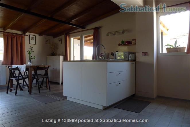 MONTE VERDE VECCHIO FURNISHED LOFT WITH PRIVAT TERRACE  SURROUNDED   by a lovely  garden Home Rental in Roma, Lazio, Italy 2