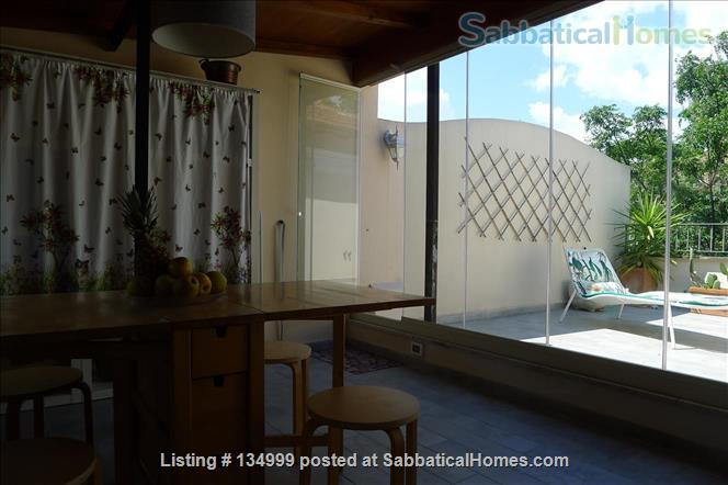 MONTE VERDE VECCHIO FURNISHED LOFT WITH PRIVAT TERRACE  SURROUNDED   by a lovely  garden Home Rental in Roma, Lazio, Italy 5