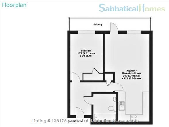 Penthouse with balcony, dishwasher, 24 hour security Home Rental in Isle of Dogs, England, United Kingdom 8