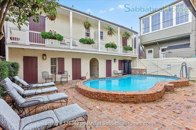 Updated 1-bed condo with pool on quiet end of French Quarter Home Rental in New Orleans, Louisiana, United States 0