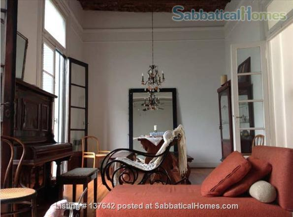 Old charm, gorgeous green view, balconies, and piano on last and second floor of a 1899 San Telmo building Home Rental in ACE, Buenos Aires, Argentina 0