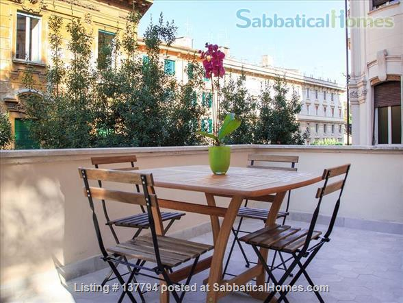 Terrace wonderful & spacious apartment in Rome city center Home Rental in Rome, Lazio, Italy 8