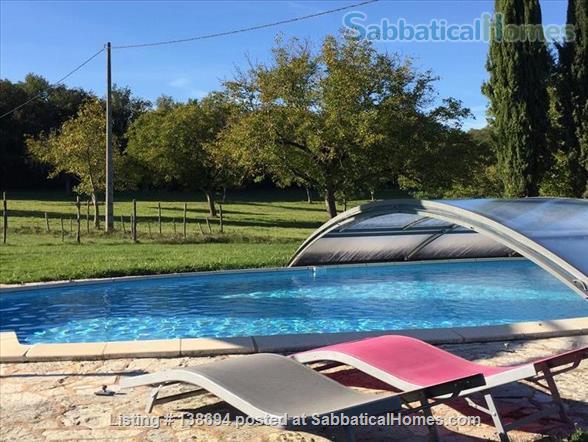 Delightful renovated farmhouse with pool near Périgueux, Dordogne, Sleeps 2-6 Home Rental in Savignac-les-Églises, Nouvelle-Aquitaine, France 0