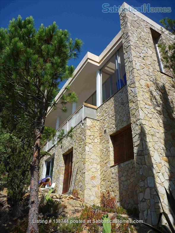 Designer's contemporary steel, glass and rock house on Costa Brava Home Rental in Canyet de Mar, CT, Spain 1